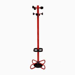Roter Italienischer Sputnik Mantel / Schirmständer