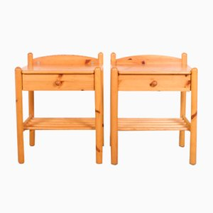 Pine Nightstands, Set of 2