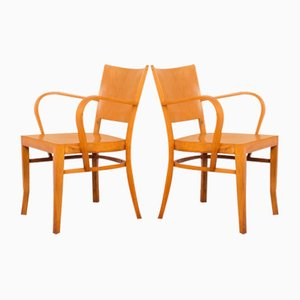 Beech Plywood Chairs in the Style of Horgenglarus, Set of 2