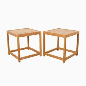 Oak Cube Side Tables by Kurt Ostervig