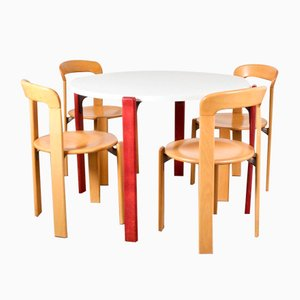 Vintage Round Dining Table by Bruno Rey for Dietiker