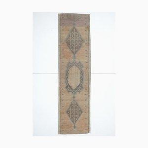 Türkischer Vintage Läufer Teppich aus Wolle
