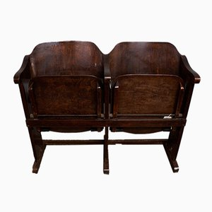 Vintage Art Nouveau Cinema Double Seat, 1910s