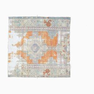 Vintage Turkish Square Oushak Carpet
