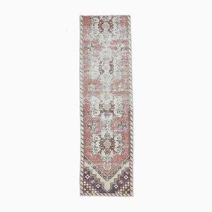 Türkischer Vintage Läufer Oushak Teppich