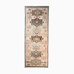 Vintage Turkish Handmade Wool Runner Rug