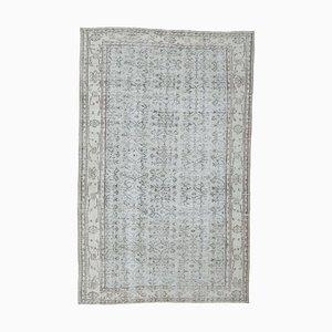 Orientalischer Hellblauer Vintage Teppich