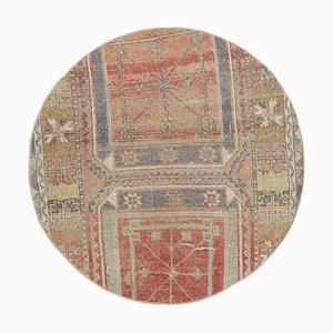 Runder Türkischer Vintage Teppich