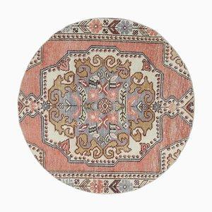 Vintage Turkish Round Rug