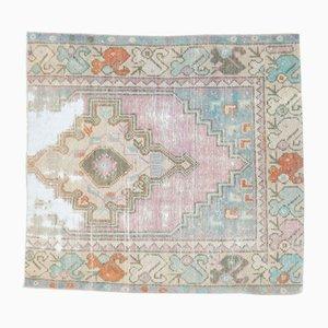 Vintage Turkish Handmade Square Wool