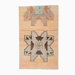 Handgefertigter türkischer Vintage Wollteppich