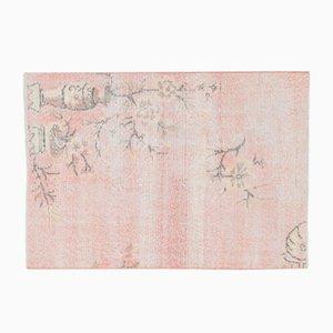 Tappeto vintage floreale fatto a mano di lana, Turchia