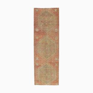 Tappeto vintage fatto a mano in lana rossa, Turchia