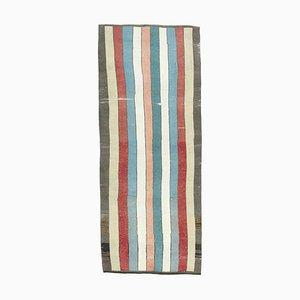 Gestreifter Vintage Flagteppich