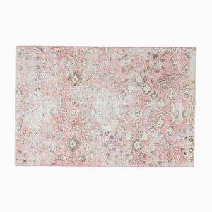 Türkischer Handgeknüpfter Vintage Floraler Teppich aus Wolle