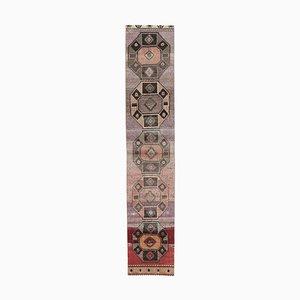 Vintage Turkish Red Handmade Wool Rug