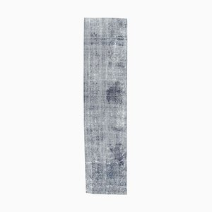 Turkish Low Pile Navy Blue Handmade Wool Rug