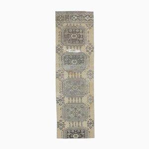 Gelber türkischer handgearbeiteter Vintage Wollteppich