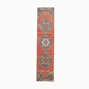 Tappeto vintage fatto a mano a motivi floreali di lana, Turchia