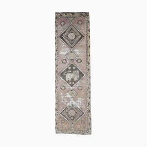 Antiker Handgeknüpfter Türkischer Rug Teppich in Rot