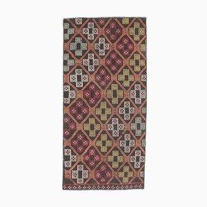 Handgeknüpfter türkischer Vintage Kilim Teppich aus handgewebter Wolle