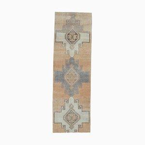 Handgeknüpfter Türkischer Vintage Wollteppich aus Gebleichtem Kupfer