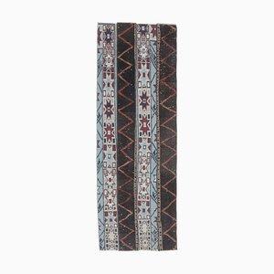 Vintage Turkish Narrow Handmade Wool Rug