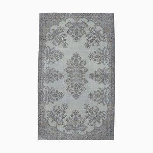 Tappeto vintage fatto a mano in lana grigia, Turchia
