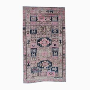 Vintage Turkish Handmade Wool Carpet