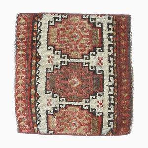 Vintage Turkish Handmade Wool Square Rug