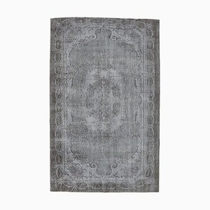 Gray Vintage Turkish Handmade Wool Rug