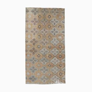 Orange Türkischer Vintage Teppich