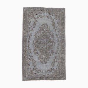Vintage Turkish Gray Handmade Wool Rug