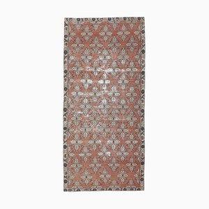 Türkischer Roter Vintage Teppich