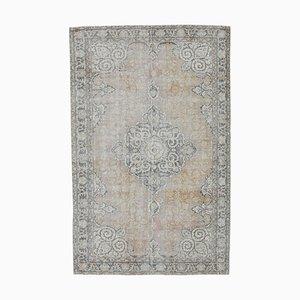 Vintage Middle Eastern Orange Handmade Wool Rug