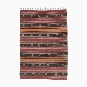 6x9 Vintage Turkish Oushak Kilim Flatweave Rug