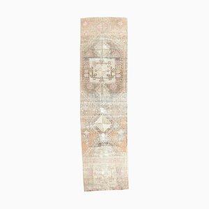 2x9 Vintage Turkish Oushak Hand-Knotted Wool Runner Carpet