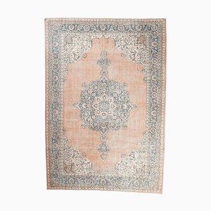 9x14 Vintage Turkish Oushak Handmade Wool Rug