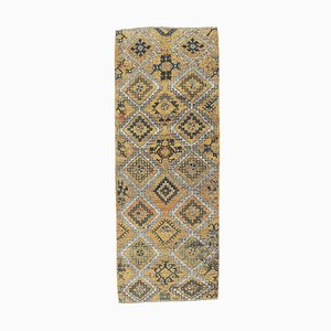 3x8 Antique Turkish Oushak Handmade Wool Small Area Rug