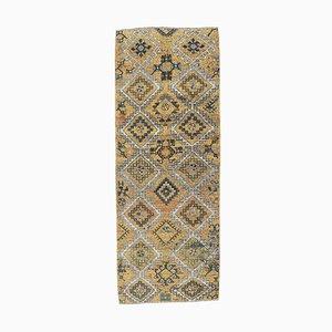 Tappeto piccolo Oushak 3x8 antico fatto a mano, Turchia