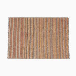 Handgefertigter türkischer Vintage Kilim Teppich aus handgewebtem Oushak Flachgewebe