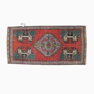 Tappeto o tappeto piccolo Oushak vintage, Turchia, 2x3