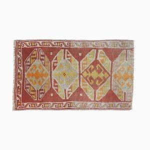 Türkischer Vintage Oushak Vintage 2x Wollteppich in Rot