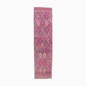 3x11 Vintage Turkish Oushak Hand-Knotted Wool Runner Carpet