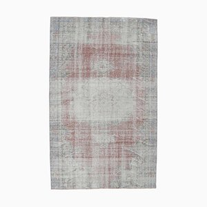 6x9 Vintage Turkish Oushak Distressed Oriental Carpet