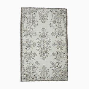 6x10 Türkischer Vintage Oushak Oriental Neutraler Teppich