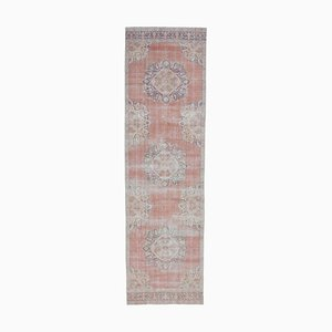 4x13 Antique Turkish Oushak Handmade Wool Faded Runner Rug
