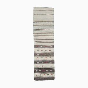 2x8 Vintage Turkish Oushak Handmade Wool Kilim Runner Rug