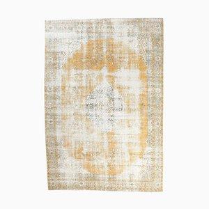 8x12 Vintage Turkish Oushak Oriental Carpet in Orange