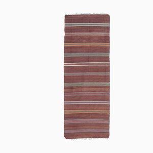 3x7 Vintage Turkish Oushak Handmade Wool Kilim Runner Rug